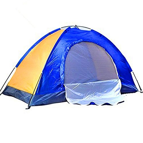 Kids Play Tunnels Mountaineering Tent Single Silver Plastic Tent Windproof Sunscreen Waterproof Tent Suitable for Outdoor Sportsmen Pop Up Tunnel Gift Toy by Sviper (Image #1)
