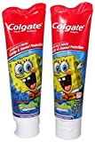 adult fruit toothpaste - Colgate Sponge Bob Square Pants Toothpaste, Mild Bubble Fruit, 2 Count