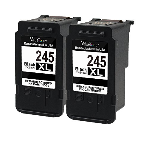 Valuetoner Remanufactured Ink Cartridge Replacement for PG-245XL 245XL 245 XL High Yield (2 Black) Compatible with PIXMA iP2820 MG2420 MG2520 MG2522 MG2920 MG2922 MG2924 MG3022 MX490 MX492 Printer