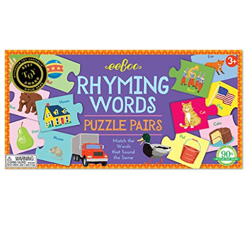 eeBoo Rhyming Words Puzzle Pairs Matching Game