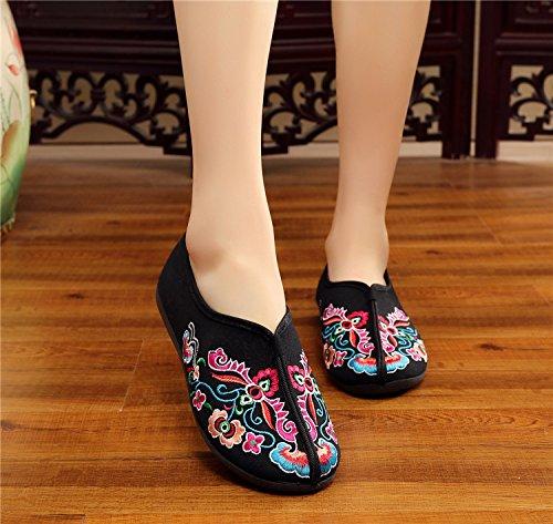 aer Mujeres Planos al Lona y Libre de Zapatos de Comodidad Zapatos Casuales de Las la Mocasines Chinos Flattie la Interiores Aire x4fpFwqR