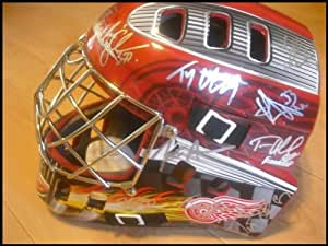 Detroit Red Wings Autographed Goalie Mask - Autographed NHL Helmets and Masks
