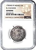 1783 MX 2 Reales MO FF El Cazador Shipwreck Coin,NGC Certified 2062685054 Real Fine NGC