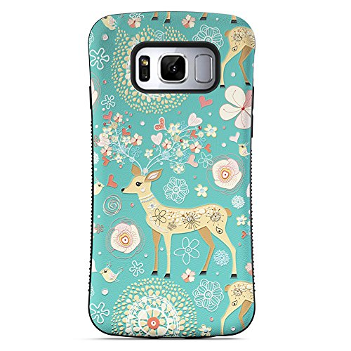 - Galaxy S8 Case, ZUSLAB Pattern Design, Shockproof Armor Bumper, Heavy Duty Protective Cover for Samsung Galaxy S8 (Cute Deer)