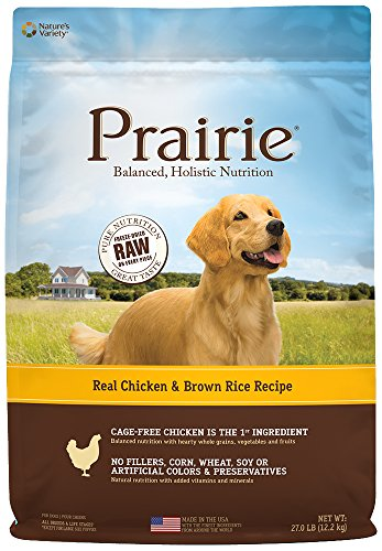 Nature's Variety Prairie Real Chicken & Brown Rice Recipe Natural Dry Dog Food by, 27 lb. (Brown Rice Weight)