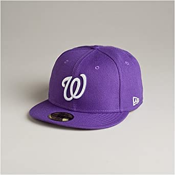 Purple Lid Washington Nationals Black White Gray New Era 59Fifty Fitted Hat