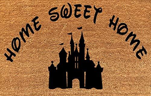 (KiwiCraftdom - Magic Kingdom Tinker Bell Castle! Home Sweet Home - Disney Inspired Doormat - Large Welcome Door Mat - Cute Housewarming Gifts - Fun Birthday Present)