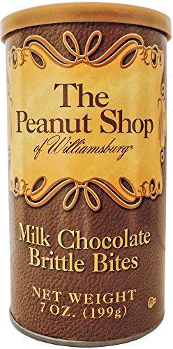 Brittle Bites (The Peanut Shop of Williamsburg Milk Chocolate Brittle Bites - 7 oz. Can)