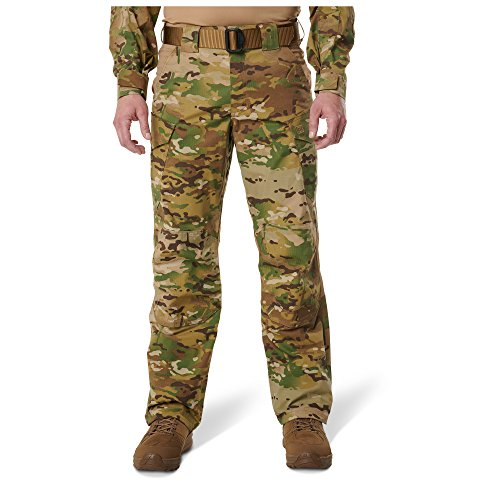 5.11 Tactical Men's Stryke TDU Multicam Pants, Canted Cargo Pockets, Teflon Finish, Style 7801