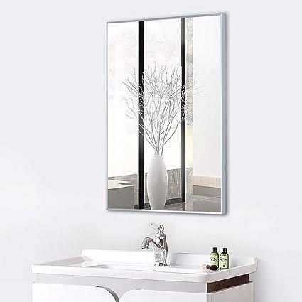 ZZKJBox Miroir Rectangulaire pour Salle de Bain, Miroir ...