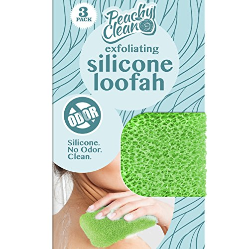 Antimicrobial Odor Resistant Exfoliating Silicone Loofah by Peachy Clean (3 Count)