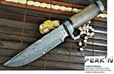 Custom Damascus Hunting Knife – Beautiful Bowie Knife –