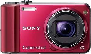 Sony DSC-H70R - Cámara Digital Compacta, 16.1 MP (3 pulgadas, 10x Zoom óptico) - Rojo