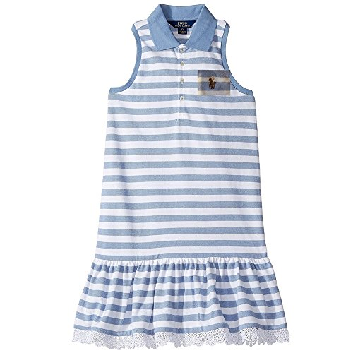 (Polo Ralph Lauren Polo Girls Striped Sleeveless Summer Dress (6X))