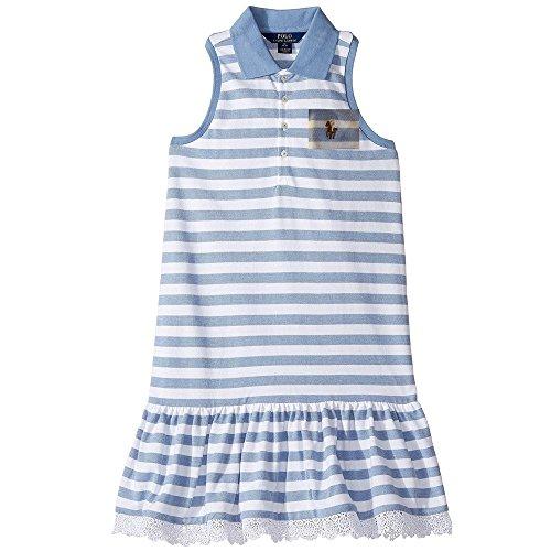 Polo Ralph Lauren Polo Girls Striped Sleeveless Summer Dress (6X)