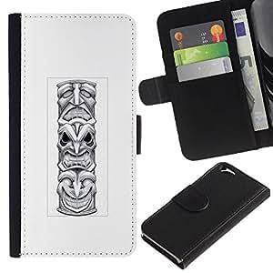 KingStore / Leather Etui en cuir / Apple Iphone 6 / Indien indigène