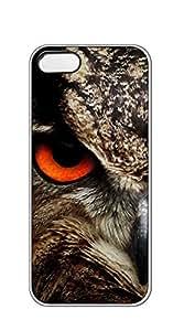 TUTU158600 Hard Plastic and Aluminum Back iphone 5 cases for women designer - Surprised owl