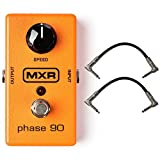 New Dunlop MXR M101 Phase 90 Phaser Effects Pedal Bundle with 6'' Patch Cables