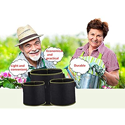 FJNATINH 6 Pack 3 Gallon Grow Bags, Nonwoven Vegetable Flower Plant Grow Bags with Durable Handles,with 6 Pcs Plant Labels : Garden & Outdoor
