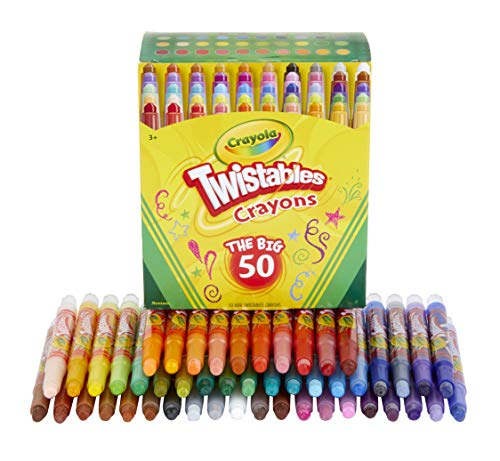 Crayola Mini Twistables Crayons, Amazon Exclusive, School Supplies, Great For Coloring Books, 50Count (Baby Write This Down Take A Little Note)