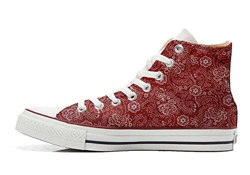Paisley Customized Star size Schuhe All 32 Schuhe Handwerk EU Red Hi personalisierte Converse FzSqnH