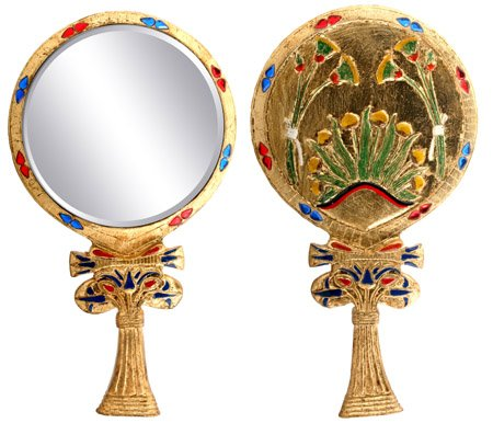 SUMMIT BY WHITE MOUNTAIN Egyptian Floral Mirror Collectible Flower Egypt Decoration Figure