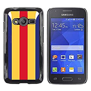 MobileHut / Samsung Galaxy Ace 4 G313 SM-G313F / Lines Clean Retro Vintage Pattern / Delgado Negro Plástico caso cubierta Shell Armor Funda Case Cover