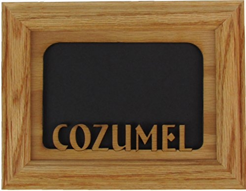 Northland Cozumel Vacation Picture Frame - Mexico Trip, Oak Photo Frame, Oak Mat 5x7 or 4x6 ()