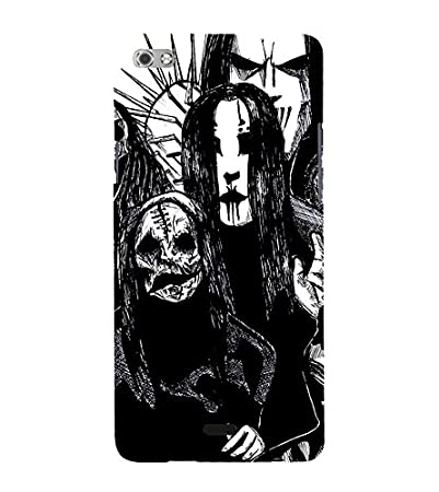 Fiobs Dracula Black White Angry Designer Back Case Cover For Micromax Canvas Sliver 5 Q450 :: Silver Q450 Mobile Accessories