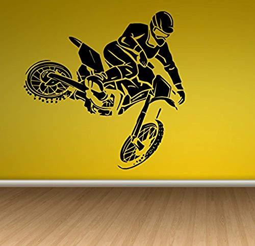 Decal Sticker Sport Motorcycle Supermoto Naked Bike Roadster jumpingWall Vinyl SK1691 (Supermoto Jacket)