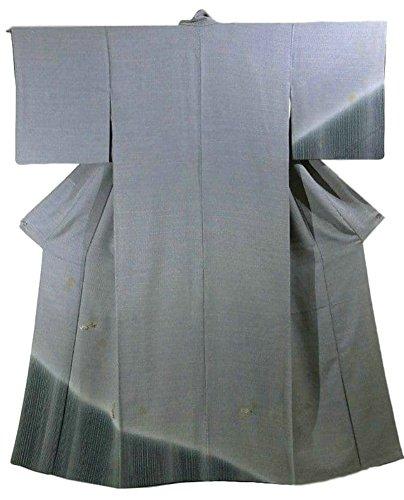 出発する非公式山積みのリサイクル 着物 訪問着 付下 正絹 袷 縞と桜の模様 裄64.5cm 身丈159cm