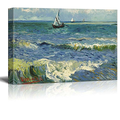 Seascape at Saintes Maries by Van Gogh Giclee ped Gallery