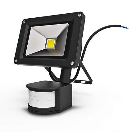Anten Foco con Sensor de Movimiento, 10W Foco LED Exterior con Sensor Movimiento, 1000LM