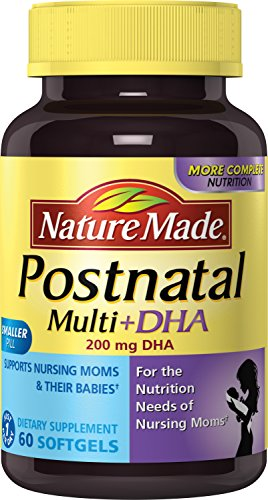Nature Made Postnatal Multivitamin + DHA 200 mg Softgels 60 Ct