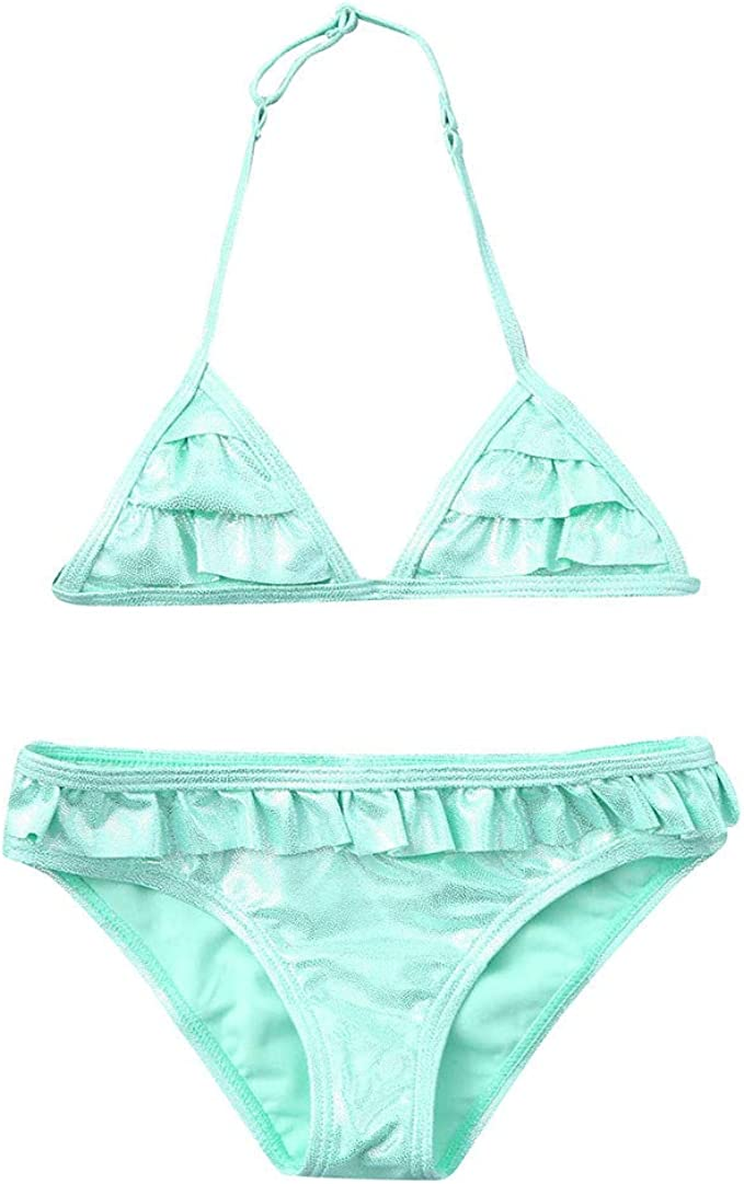 a Cute Style Bikini Suit for Small Girls Oillian Materials Price