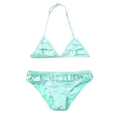 b7ddedaf7c45a FALAIDUO Baby Girl Swimwear 3-6 Months Kids one Piece Swimsuit Kids  Swimwear Girls Tankini Toddler Kids Girls Ruffles Solid Sparkle Summer Swimwear  Swimsuit ...