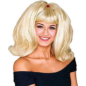 Flip Wig Blonde GoGo 60's 70's Retro 60s 70s Groovy 1960s 1970s Disco Party Outfit Costume Accessory