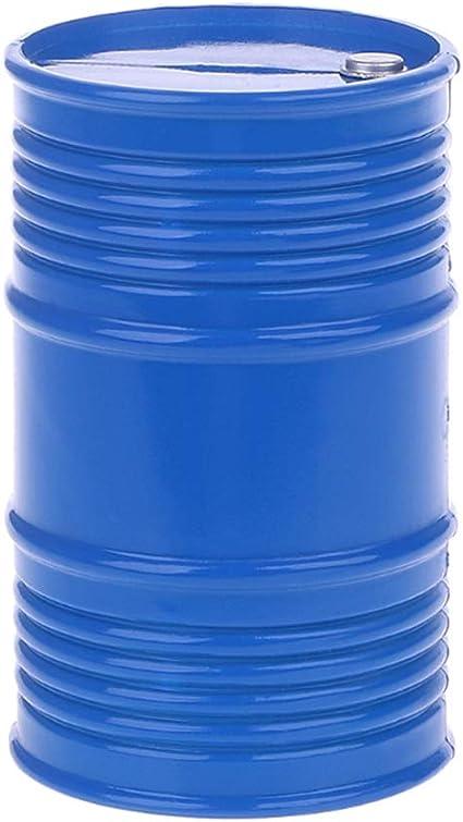 LAFEINA Metal Oil Drum Fuel Tank Container for 1//10 RC4WD D90 SCX10 Rock Crawler RC Car Decor Accessories Blue