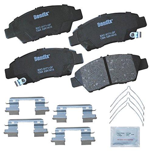 (Bendix Premium Copper Free CFC1394 Premium Copper Free Ceramic Brake Pad (with Installation Hardware)