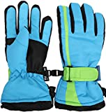 ski package youth - Simplicity Boys Youth Waterproof and Thinsulate Winter Ski Snow Gloves, Black/Blue Green-M(6-8Years)