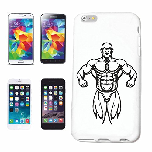"cas de téléphone iPhone 7S ""SANTA CLAUS AS Musculation bodybuilder GYM GYM muskelaufbau SUPPLEMENTS WEIGHTLIFTING BODYBUILDER"" Hard Case Cover Téléphone Covers Smart Cover pour Apple iPhone en blanc"