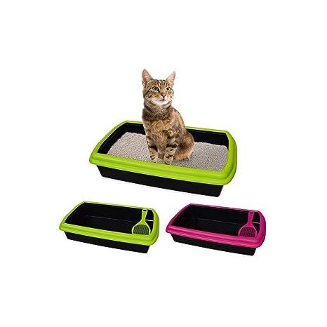 TradeShopTraesio - Arenero de plástico abierto con pala para gatos