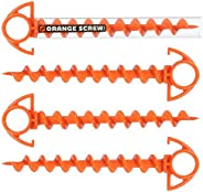 Orange Screw: The Ultimate Ground Anchor, SMALL – 4 Pack