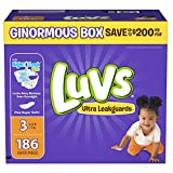 Health & Personal Care : Branded Luvs Ultra Leakguards Size 3 Diapers, 186 ct. (diapers - Wholesale Price (Bulk Qty at Whoesale Price, Genuine & Soft Baby diaper)