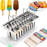 TFCFL 20PCS Stainless Steel Molds Frozen Ice Cream Pop Popsicle Holder Maker+Stick KIT