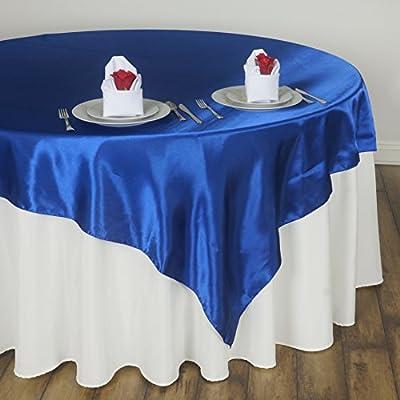 Amazon Balsacircle 90x90 Inch Royal Blue Satin Table Overlays