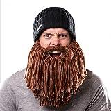 Beardo Viking Detachable Beard Hat, Short, Black Brown