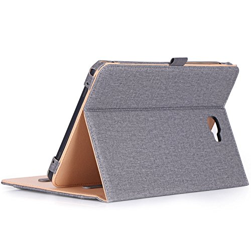 ProCase-Samsung-Galaxy-Tab-A-101-Case---Stand-Folio-Case-Cover-for-Galaxy-Tab-A-101-Inch-Tablet-SM-T580-T585-with-Multiple-Viewing-Angles-Document-Card-Pocket--Grey