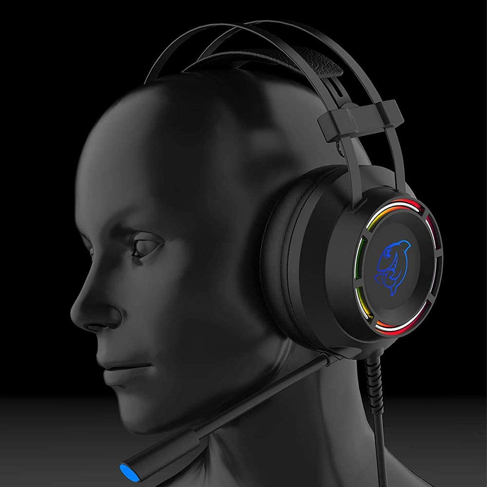 Black RGB Light Noise Canceling Headphone for PS4//Switch//PC//PS3//Mac//Laptop DOUYU DHG160 Electronic Gaming Headset PS4 Headset with 7.1 Surround Sound