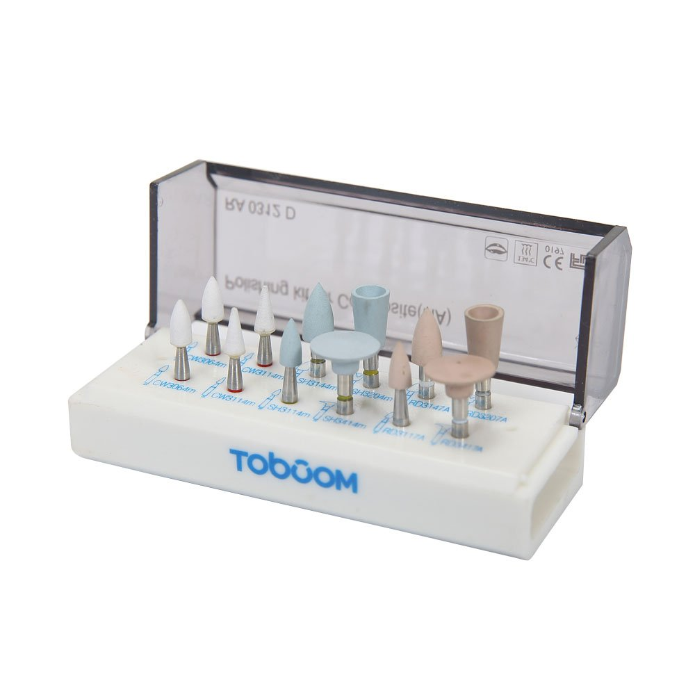 Teeth Polish Kits - Zeta Dental Composite Resin Tooth Polishing Kits for Slow Speed Tool